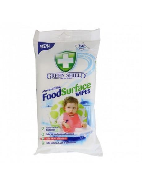 GREEN SHIELD čistiace obrúsky na jedálenské povrchy 50 ks
