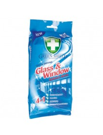 Green Shield Glass & Windows  vlhčené obrúsky na sklenené povrchy 50 ks