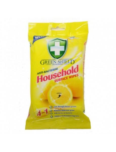 GREEN SHIELD čistiace obrúsky antibakteriálne 4in1 50 ks