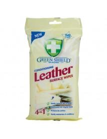 GREEN SHIELD čistiace obrúsky na kožu 4in1 50 ks