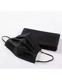 Čierne 3 vrstvové ochranné rúško jednorázové