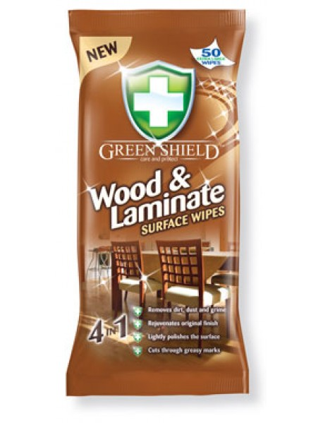 GREEN SHIELD vlčené utierky Wood & Laminate 4in1 50ks