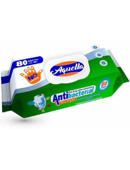 Aquella Antibacterial vlhčené utierky 80 ks