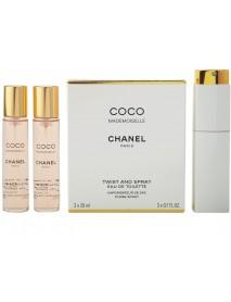 Chanel Coco Mademoiselle 3x20ml EDT s rozprašovačom W