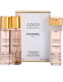Chanel Coco Mademoiselle dámska toaletná voda 3x20 ml náplne